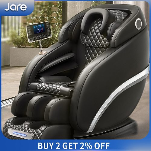 Jare 6687N Latest Leather Touch Screen Technology Zero Gravity Cover Shiatsu Foot Massager Full Body Massage Chair