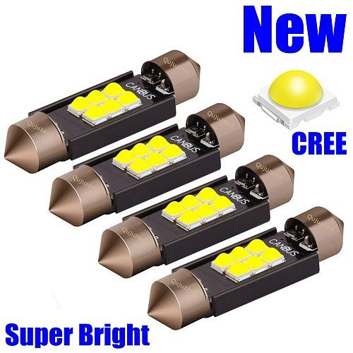 4pcs Festoon 31mm 36mm 39mm 41mm LED Bulbs C5W C10W Super Bright LED Canbus No Error Auto Interior Doom Lamp Car Reading Lights