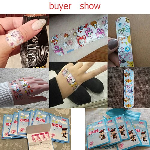 50Pcs Waterproof Bandages First Aid Hemostasis Band-Aid Stickers Cute Cartoon Medical Plaster Wound Patches Emergency Kit C1204