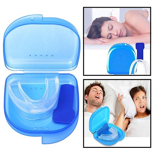 Gum Shield for Stop Teeth Grinding & Anti Snoring 2-in-1 Anti Health Care Sleep Snoring Devices Snore Stopper for Better Sleep