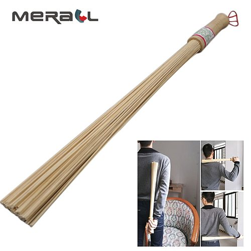 Bamboo Body Massage Tools Fitness Pat Hammer Health Care Stick Shot Fitness Massage Hammer Shoulder Tapping Rods Convex Round