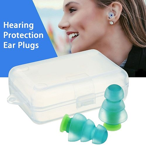 1 Pair Noise Cancelling Hearing Protection Earplugs For Concerts Musician Motorcycles Reusable Silicone Ear plugs