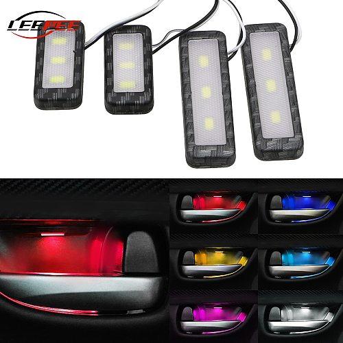 12V Car RGB Ambient Light LED Mood Welcome Door Lamp Backlight Interior Decoration Caravan 4x4 Truck Caravan Auto Accessories