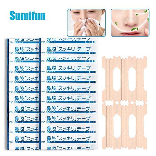 6/30/60PCS Sumifun Anti Snoring Stickers Nasal Strips Easy Breath for Sleeping Anti Snoring Nose Rhinitis Patch Health Care