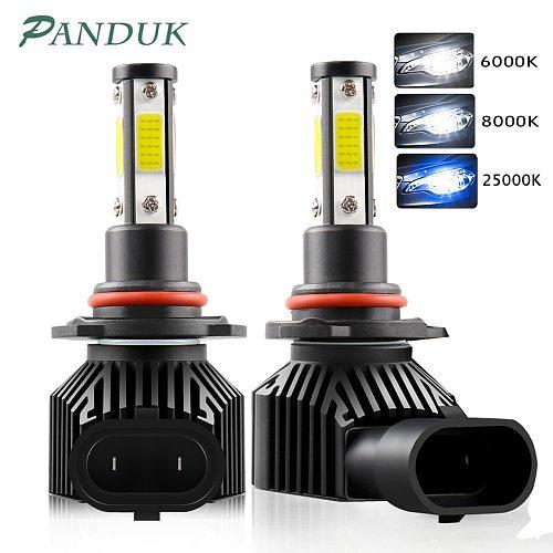 PANDUK 2pcs 360 Degree LED 14000LM H7 H11 LED Bulb H1 H3 H4 H8 H9 9005 HB3 9006 HB4 Auto Car Headlight 6000K Fog Light 12V