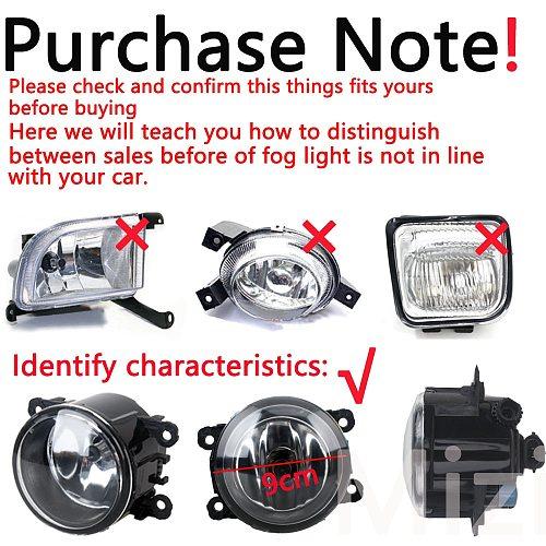 for Mitsubishi ASX L200 Pajero 4 Outlander Grandis 2003-2015 Fog Lights 2pcs LED halogen fog lamp headlights fog light foglights