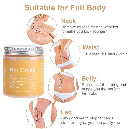 Fat Burner Weight Loss Cream Anti Cellulite Hot Cream Body Massager Gel Slimming Cream Hot Selling Massage Hot Anti-Cellulite