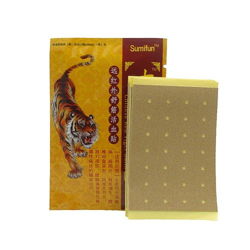 8pcs/Lot Tiger Balm Pain Patch Arthritis Joint Ache Back Pain Relieve Sticker Self-heating Herbs New Plaster Health Care