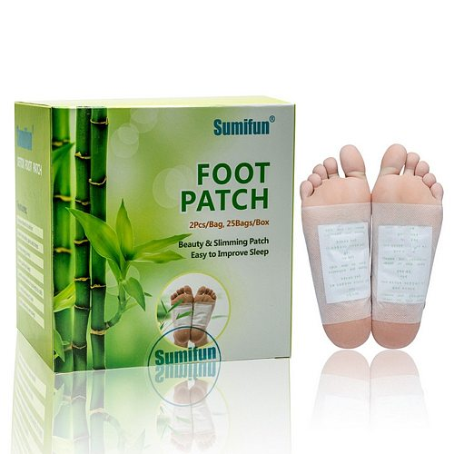 50 pcs =25 Bag Bamboo Vinegar Herbal Detox Foot Patches Beauty and Slimming Feet Patch Easy to Improve Sleep Adhesive #269538
