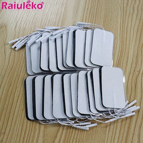 50pcs/lot Tens Electrode Pads Sticker Conductive Gel Pad For Body Acupuncture Digital Therapy Massager EMS Muscle Stimulator