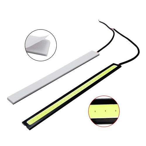 2 Pcs 17CM Universal Waterproof Led Day Light DRL Lamp Daytime Running Lights COB Fog Lamp Car Styling Led Day Light DRL Lamp