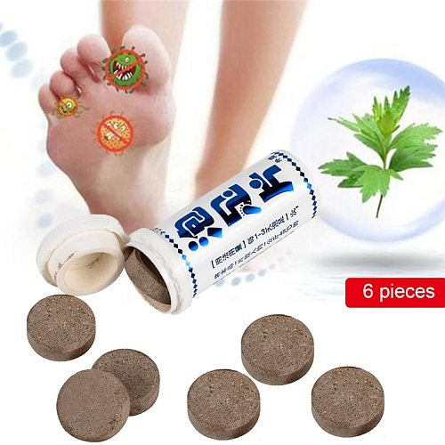 6Pcs Soak Foot Bath Powder Kits Natural Chinese Medicine Foot Care Tool Effervescent Tablets Help Sleeping Remove Moisture