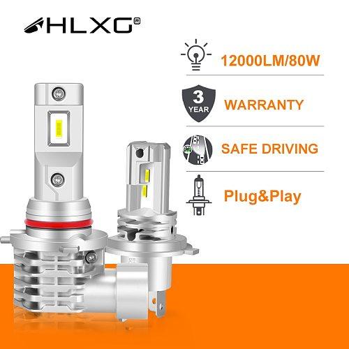 CSP Mini h7 LED H4 lamps for car Headlight Bulb led H8 H11 fog light HB3 9005 HB4 4300K 6000K 12000LM luces led para auto HLXG