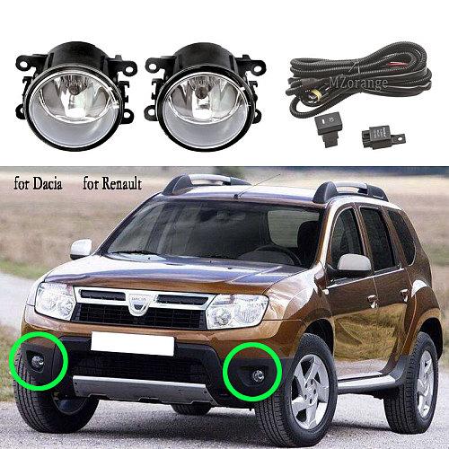 Fog Lights for Renault Duster Koleos Megane Fog Light For Dacia Duster Logan 2004-2015 halogen foglights for Renault Logan