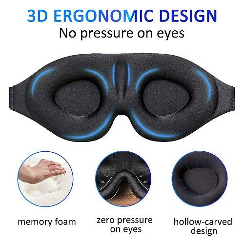 Eye Patch Reusable Soft Relax 3D Sleeping Eye Mask Elastic Adjustable Band Padded Cover for Travel Blindfold Eyepatch Women Men