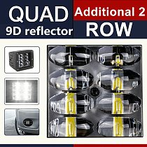 CO LIGHT 9D 80W Car Led Light Bar 3inch Work Light Flood Led Beams DRL 12V 24V for Lada Tractors Boat 4x4 Truck SUV ATV Fog Lamp