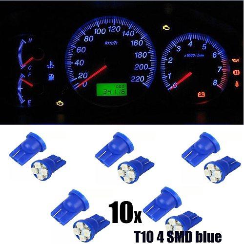 10pcs Car led Lights T10 4SMD 1210 LED Reading Lamps Car Gauge Speed Dash Bulb Dashboard instrument Light Wedge Interior Lamp