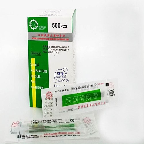 new 500pcs Huanqiu sterile disposable acupuncture beauty massage acupuncture needle 0.16/0.18/0.22/0.25/0.30/0.35mm