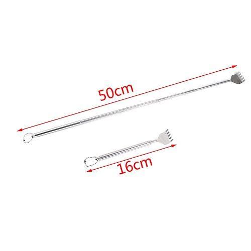 2021 Extendable Handy Pocket Pen Clip Back Scratcher Stainless Steel Telescopic Back Scratcher Itch Scratch Massage Tool