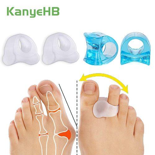 Blue & Transparent Silicone Gel Toe Separator Relief Hallux Valgus Pain Bunion Spacers Thumb Corrector Foot Massage Care Tool