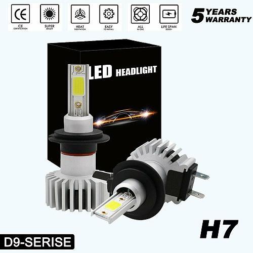 2 Pcs Super White car headlight bulbs H7 led h4 Interface for H1, H3,H4,H11,H8,H9 9005,HB3,H10,9006,HB4,9012,HIR2 H10 6000K