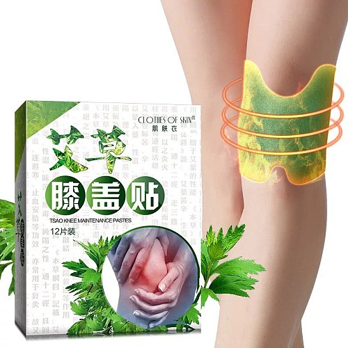 12pcs/bag New Knee Plaster Sticker Wormwood Extract Knee Joint Ache Pain Relieving Paster Knee Rheumatoid Arthritis Body Patch
