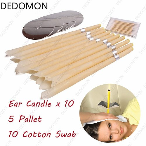 10pcs/25pcs set  Ear Candles Ear Wax Clean Removal Natural Beeswax Propolis Indiana Therapy Fragrance Candling Cone Candle