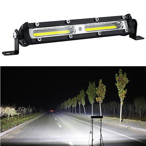 Car LED Work Light 12V 24V LED Spotlight Work Light Bar 6500K Strip light for car Auto Truck Lorry Trailer SUV Spot Fog Lamp