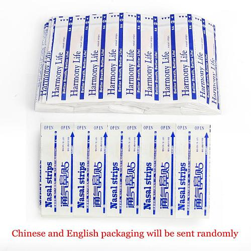 100-300Pcs Better Breath Nasal Strips Right Aid Stop Snoring Nose Patch Good Sleeping Patch Product Easier Better Breathe Health