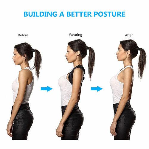 Drop shipping Adjustable Back Posture Corrector Clavicle Spine Back Shoulder Lumbar Brace Support Belt Posture Correction Brace
