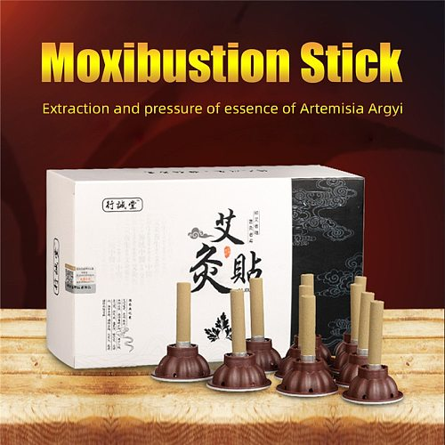 60pcs/Set Moxibustion Stick Smokeless Roll Self-adhesive Moxa Chinese medical acupuncture points massage sticker