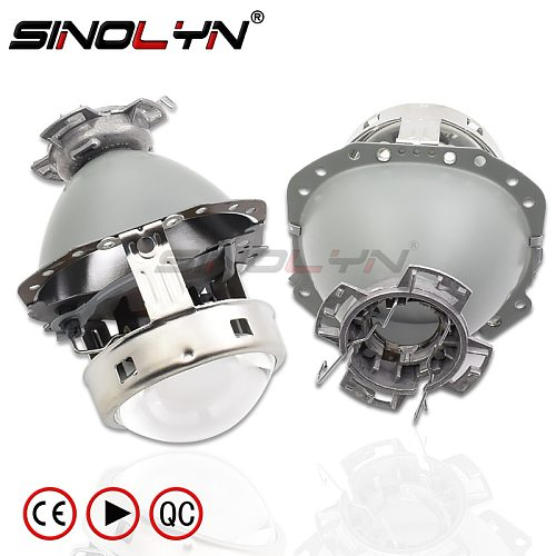 Sinolyn E55 Headlight Projector Lens For Audi A6 C6/BMW E60 X5 E53 E61 E65 E85/Benz W211 W212 D2S D1S D4S Bi Xenon Car Accessory