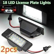2Pcs Car 18Leds License Plate Lights Plastic for Nissan Qashqai X-Trail Juke Primera Bright Led Number Licence Plate Light