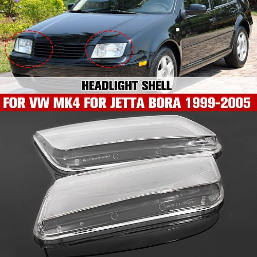 2Pcs Left & Right Car Headlight Lens Cover Replacement Head Lamp Covers For VW Jetta Bora MK4 1999 2000 2001 2002 2003 2004 2005