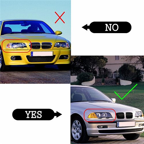 2Pcs Fit For BMW 4 Door E46 3 Series 1998-2001 Lamp Clear Lens Cover Car Headlight Cover Lampshade Waterproof Bright Shell Cover