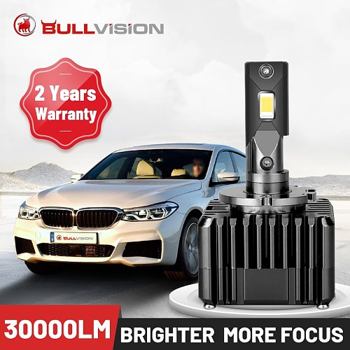 Bullvision HID D1S LED Headlights D2S D3S D4S D5S D8S D1R D2R D3R D4R 30000LM Two-sided CSP Chip Canbus Decorder Error Free 2PCS