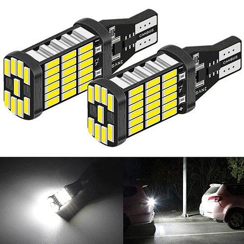2Pcs/set DC 12V Canbus T16 T15 921 W16W LED Bulb Car Backup Reverse Lights 6000K