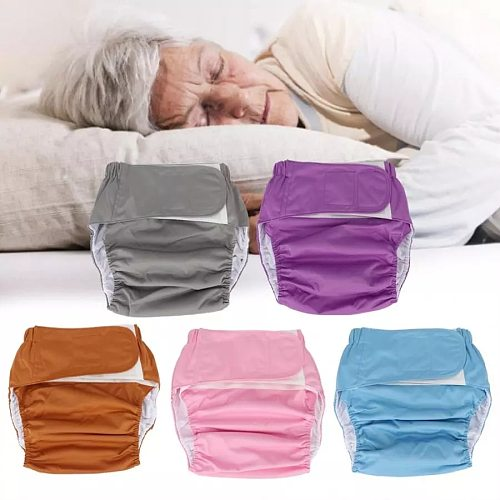 Adult Diapers Waterproof Washable Reusable  Adults Elderly Cloth Diapers Adjustable Pocket Nappies for Bedridden Incontinence