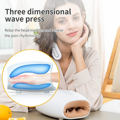 Chargeable Portable Air Compression Hand Massager Heated Finger Massager  6 modes, 3 levels of strength Massage Relaxation