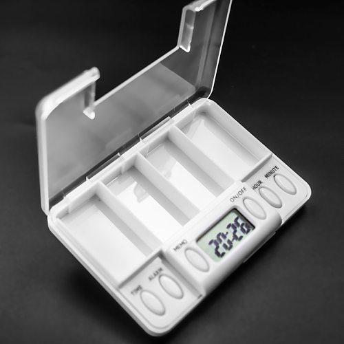 4 Grid pill box medicine Storage Box Electronic Timing Reminder Medicine Boxes Alarm Timer Pills Organizer Pill Drug Container