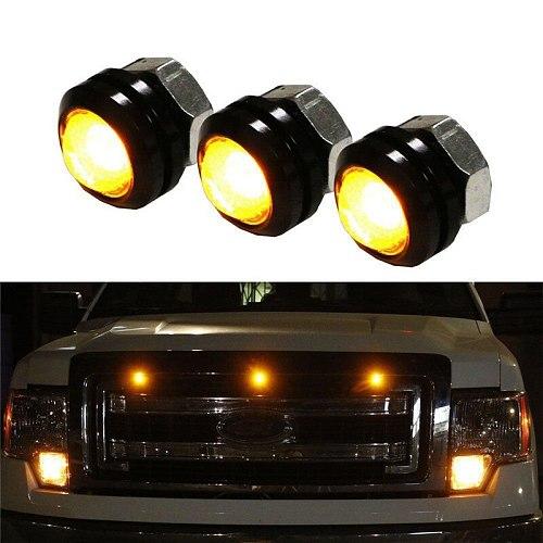 3pcs Car LED Amber Grille Lighting Kit Universal Fit Truck SUV for Ford SVT Raptor Style