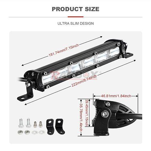 7 Inch 6D Lens Led Light Bar Offroad Led Bar for Tractor Truck Boat 4WD 4x4 ATV UTV UAZ 12V 24V Flood Spotlight Led Work Light