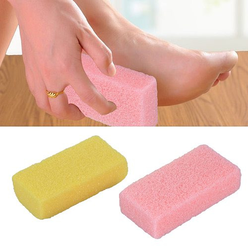2pcs Foot Pumice Stone Foot Care Exfoliator Pedicure Tool Sponge Block Callus Dead Hard Skin Remover Cleaner (Random Color)