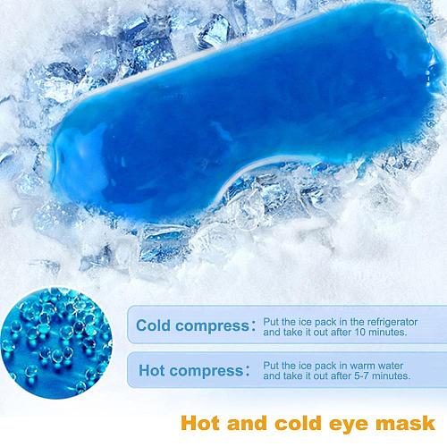 1PC Ice Pack Eye Shade Cooler Bag Sleeping Mask Cover Patch Cold Soothing Gel Health