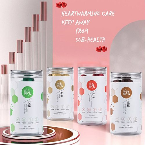 4 Bottles SPA Bubble Foot Pills Soaking Foot Bath Powder Dysmenorrhea Bloated Insomnia Sub-health Treatment Brighten Skin Tone