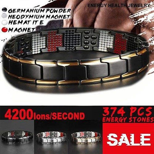 Twisted Magnetic Therapy Bracelet Health Care Anti Snoring Bracelet Sleep Better Jewelry Five In One Healthy Energy Bracelet