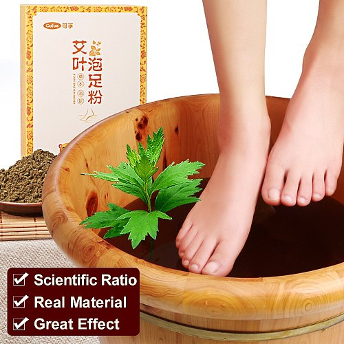 Cofoe Foot Bath Powder Chinese Herbal Moxa Leaves Feet Massage Dehumidification Dysmenorrhea 30packs/box