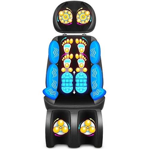 LEK electric massage cushion full body Shiatsu massage chair air compressor vibration kneading back massager special sale