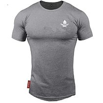 2021 New brand Clothing fitness Running t shirt men O-neck t-shirt cotton bodybuilding Sport shirts tops gym men t shirt