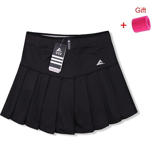 Women Tennis Skort Quick Dry Sport Badminton Short Skirt Wear Skirt Pleated Pants Pocket Workout Clothes Cheerleaders Clothing